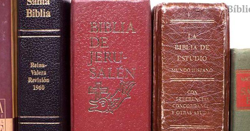 Diferentes versiones de la Biblia