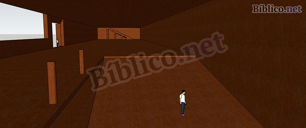 Interior del arca de Noé en 3D
